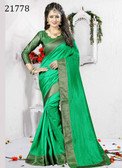 Delightful & Charming Green Colored Art Silk Saree