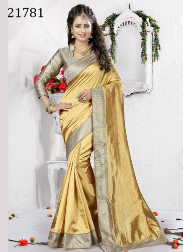 Delightful & Charming Beige Colored Art Silk Saree