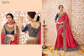 Gorgeous & Classy Pink Colored Silk Fabric Saree