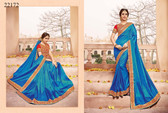Gorgeous & Classy Blue Colored Silk Saree