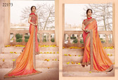 Gorgeous & Classy Peach Colored Silk Saree