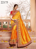 Gorgeous & Classy Yellow Colored Silk Saree