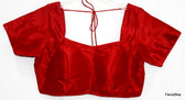 Readymade Saree Blouse Choli Bollywood Style Dark Red