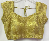 Ready-to-wear Padded Saree Blouse Choli Golden Net  Design