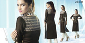 Beautiful & Innovatively Styled Black Colored Cotton Kurti