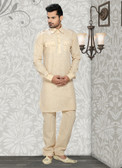 Stylish Gold Gold Cotton Cotton Kurta Pyajama