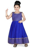 Stylish Designer Blue  Net  Readymade Gown D1022013153