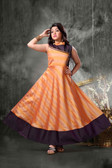 Stylish Trendy   Tafeta Silk  Banasrasi Jecard  Readymade Girl Gown D1022018397