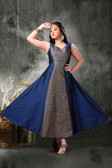 Stylish Trendy   Tafeta Silk  Banasrasi Jecard  Readymade Girl Gown D1022018401