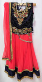 Stylish Premium  Dark Blue Pink Color Net Georgette Lehenga 200617912