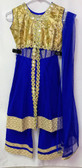 Stylish Designer Blue Gold Color Net  Dress 200617923