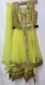Stylish Designer Lemon Yellow Gold Color Net  Dress 200617924