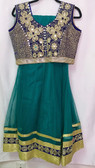 Stylish Designer  Greenish Color Net Georgette Suit 200617950