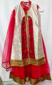 Stylish Premium White Hot Pink Color Net Georgette Silk Lehenga 200617958