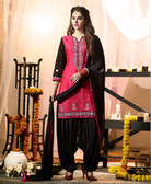Delightfully Fascinating Pink Colored Designer Cotton Suit