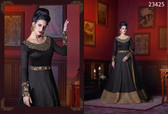 Incredible & Exquisite Black Colored Phantom Silk Salwar Suit
