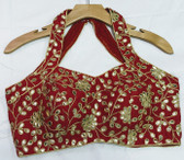 Saree Blouse Choli Maroon Padded  Designer Brocade 140717121