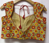 Saree Blouse Choli Gold Designer Ebroidery Padded  Brocade 140717144