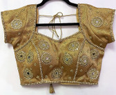 Saree Blouse Choli Padded Gold Designer Brocade 140717164