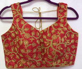 Saree Blouse Choli Embroidery Red Padded Designer Brocade 140717171