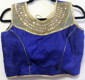 Saree Blouse Choli Mirror Blue Padded Designer 140717178