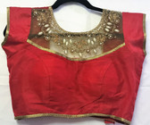 Saree Blouse Choli StoneWork Red Net Padded Designer 140717185