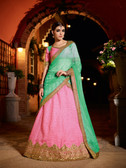 Alluring & Graceful Pink Colored Chennai Silk Lehenga