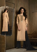 Delightfully Attractive Beige Colored Cotton Suit