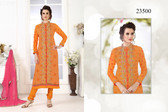 Gorgeous & Catchy Mustard Colored Georgette Salwar Suit