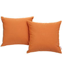 Convene Two Piece Outdoor Patio Pillow Set, Orange, Fabric 10021