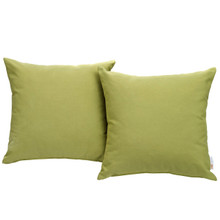 Convene Two Piece Outdoor Patio Pillow Set, Green, Fabric 10022