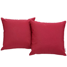 Convene Two Piece Outdoor Patio Pillow Set, Red, Fabric 10023