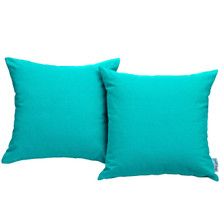 Convene Two Piece Outdoor Patio Pillow Set, Blue, Fabric 10024