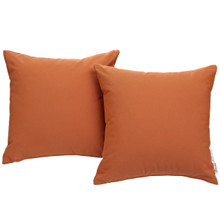 Summon Pillow ( Set of Two), Orange, Fabric 10028