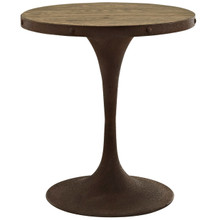 "Drive 28"" Round Wood Top Dining Table, Brown, Metal 10031"