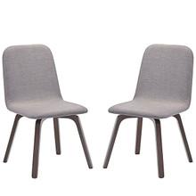 Assert Dining Side Chair Set of 2, Grey, Fabric 10052
