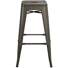 Promenade Bar Stool, Brown, Metal 10080