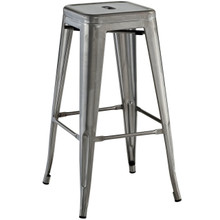 Promenade Bar Stool, Silver, Metal 10081