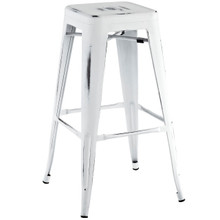 Promenade Bar Stool, White, Metal 10082