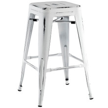 Promenade Counter Stool, White, Metal 10086