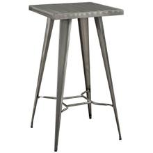 Direct Metal Bar Table, Silver, Metal 10091