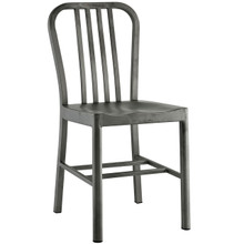 Clink Dining Chair, Silver, Metal 10093