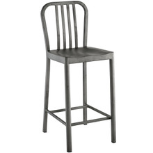 Clink Counter Stool, Silver, Metal 10094