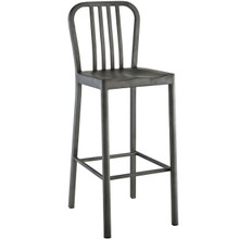 Clink Metal Bar Stool, Silver, Metal 10095
