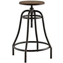 Toll Metal Bar Stool, Brown, Metal 10096