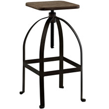 Pointe Bar Stool, Brown, Metal 10097