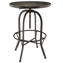 Sylvan Wood Top Side Table in Black