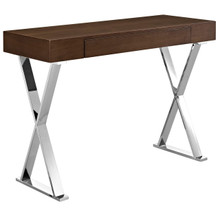 Sector Console Table, Brown, Wood 10103