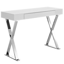 Sector Console Table, White, Wood 10104