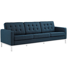 Loft Upholstered Fabric Sofa, Navy, Fabric 10119